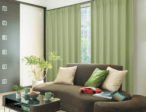グリーン系カーテン